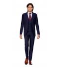 Filip Cezar Dark Blue Stripe Suit