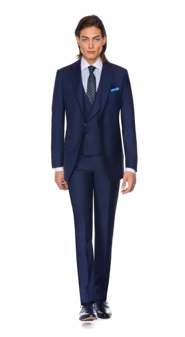 Filip Cezar Blue Stripe Suit