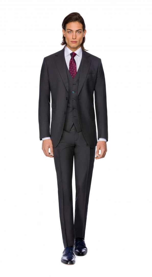 Filip Cezar Grey Stripe Suit