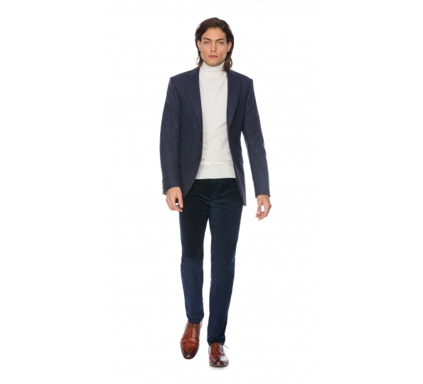 Filip Cezar Blue Check Suit