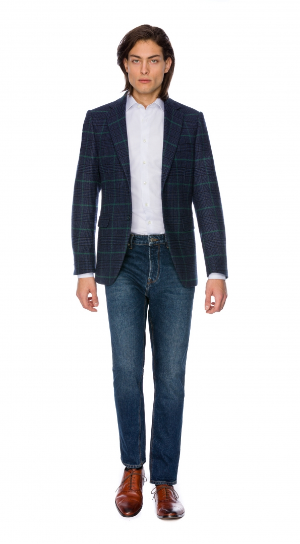 Filip Cezar Green Check Suit