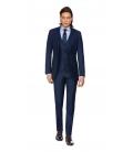 Filip Cezar Navy Blue Check Suit