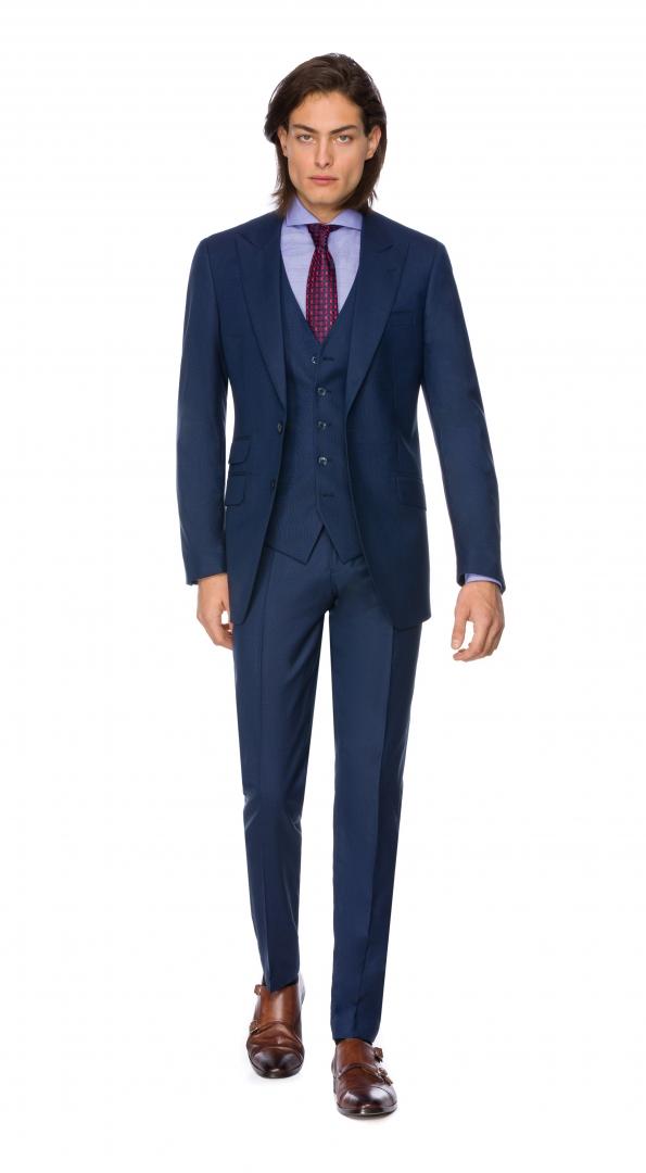 Filip Cezar Cosmic Blue Check Suit