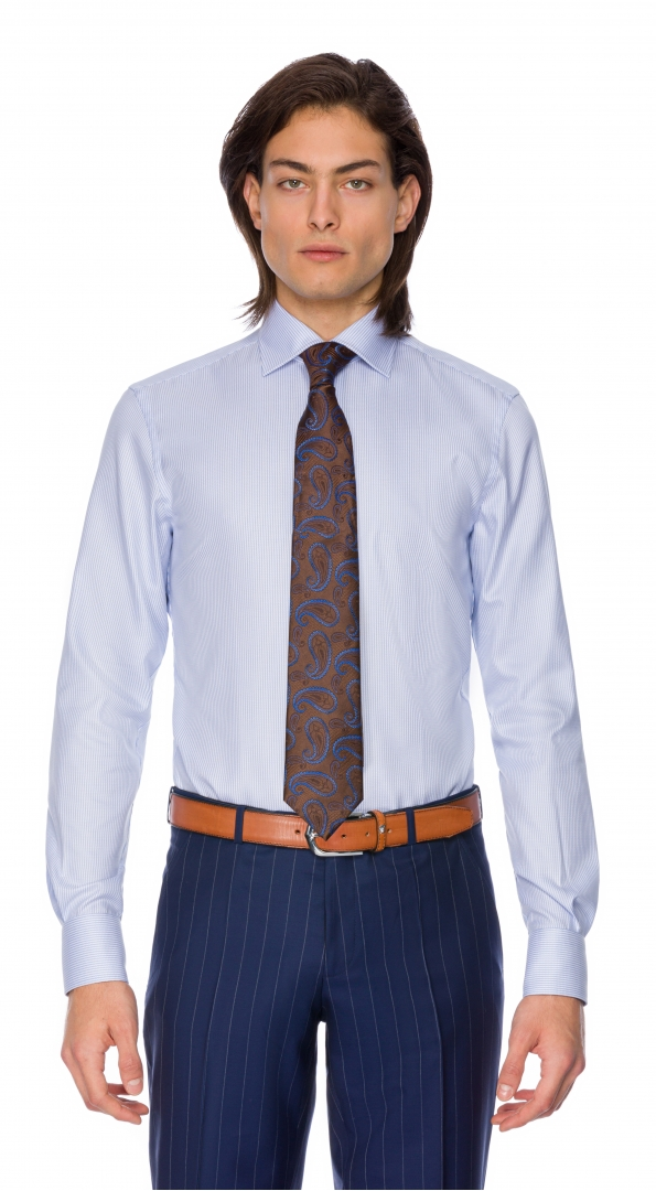 Filip Cezar Blue Interlaced Shirt