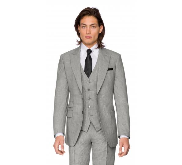 Filip Cezar Grey Check Blazer