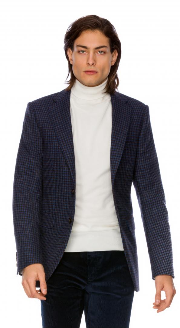 Filip Cezar Blue Check Blazer