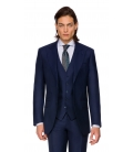 Sacou Filip Cezar Navy Blue Check