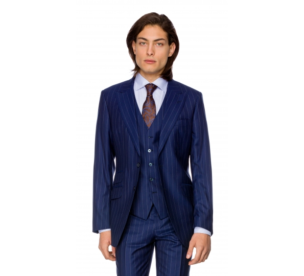Sacou  Filip Cezar Blue Stripe