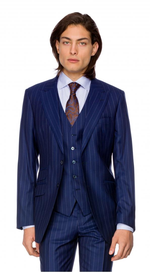Filip Cezar Blue Stripe Blazer