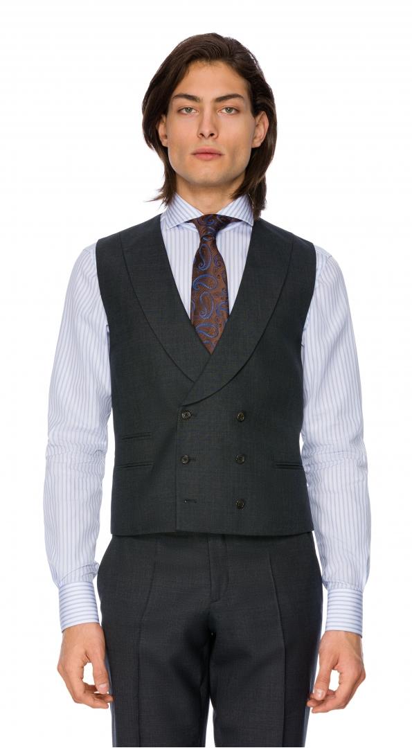 Filip Cezar Dark Grey Waistcoat