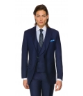 Costum Filip Cezar Blue Stripe