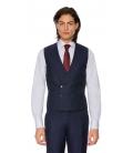 Filip Cezar Dark Blue Stripe Waistcoat