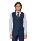 Filip Cezar Cosmic Blue Check Waistcoat