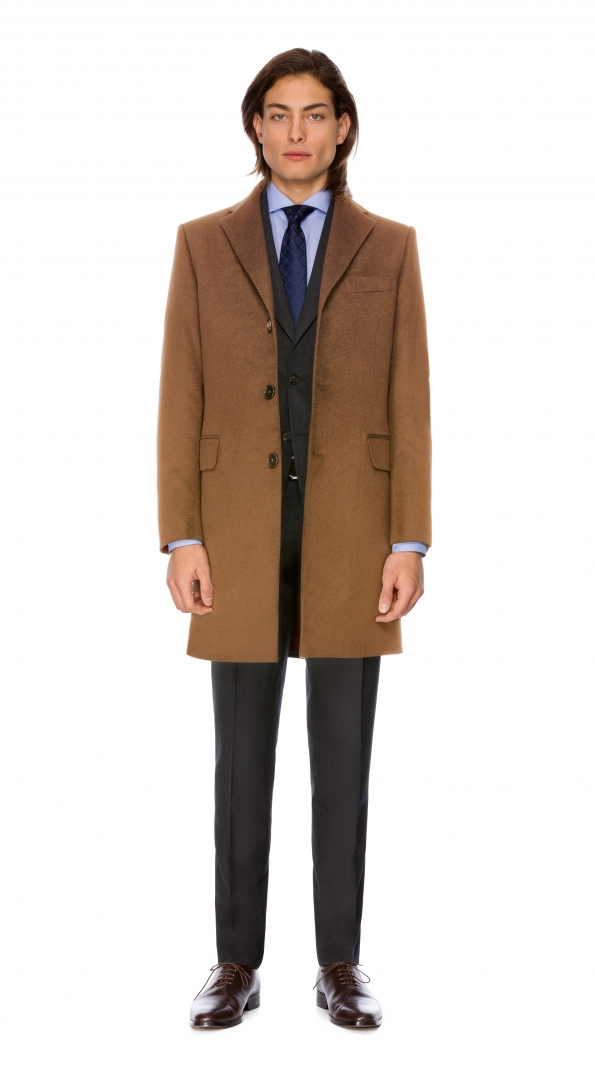 Filip Cezar Light Brown Coat