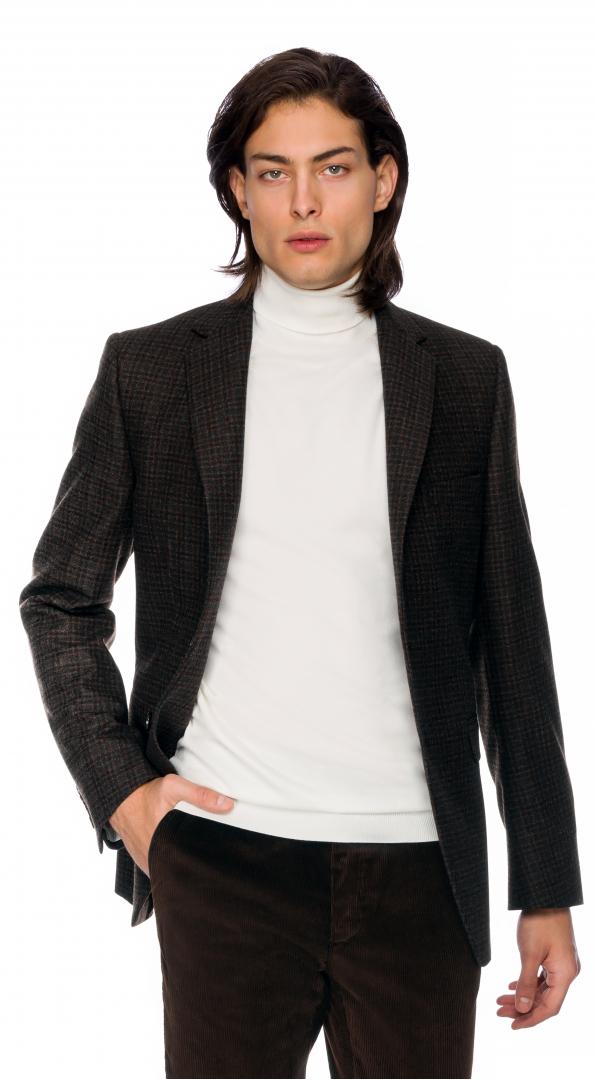 Filip Cezar Brown Check Blazer