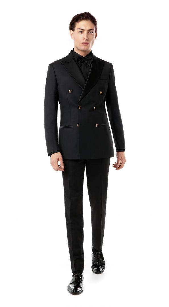 Filip Cezar Double Black Suit
