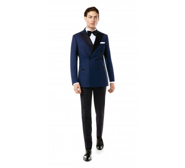 Filip Cezar Double Blue Suit