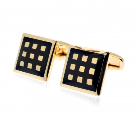 Cezar Black Battle Cufflinks