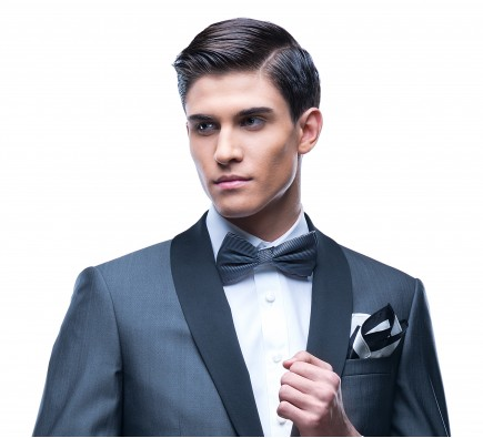 Filip Cezar Grey Bow Ties