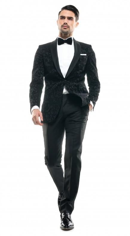 Costum Filip Cezar Black Paisley