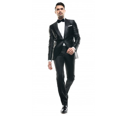 Costum Filip Cezar Silk Dots