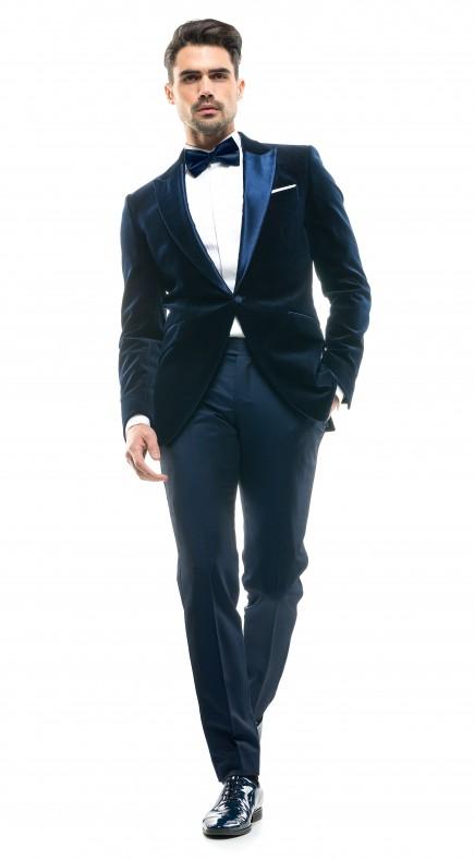 Costum Filip Cezar Blue Velvet
