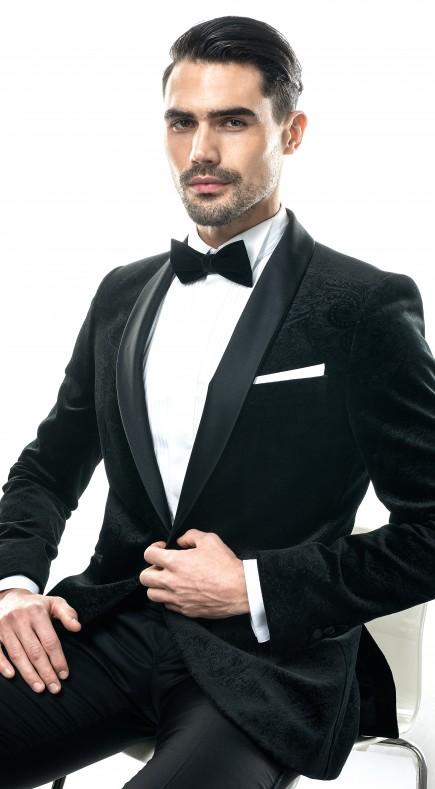 Filip Cezar Dark Velvet Jacket