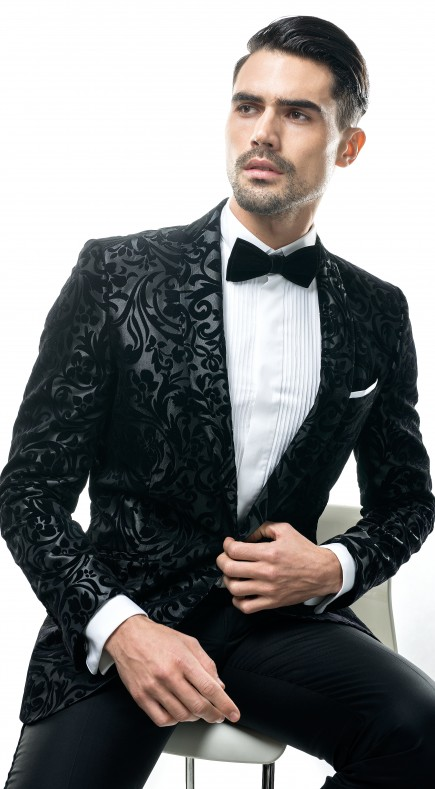 Filip Cezar Dark Grey Paisley Jacket