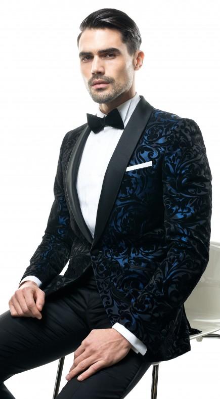 Filip Cezar Blue Paisley Jacket
