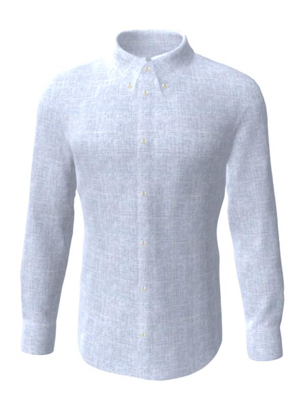 Camasa la comanda albastra, configurata 3D, din colectia de camasi la comanda pentru barbati.