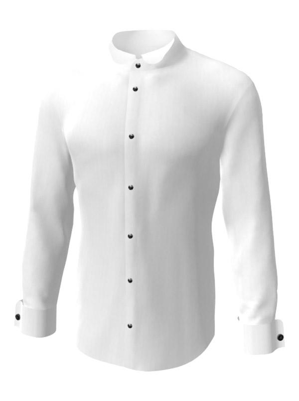 Camasa la comanda, alba uni, de ceremonie, configurata 3D, din colectia de camasi la comanda pentru barbati.