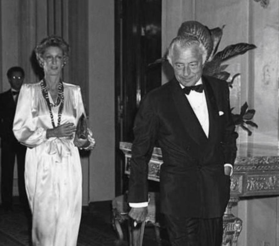 Gianni Agnelli in a velvet suit